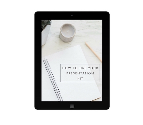 How to Use Your Presentation Kit